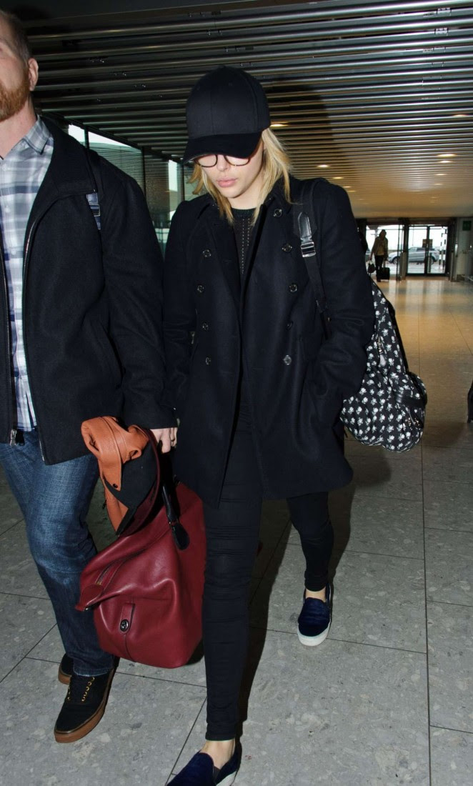 Chloe Moretz: Heathrow Airport -09