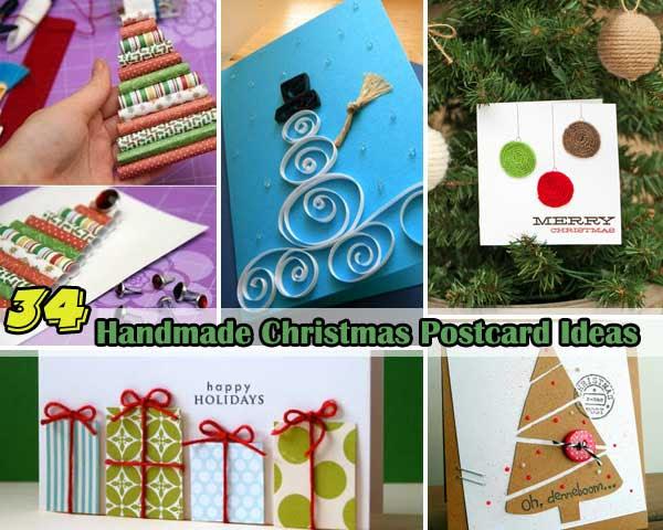 34 Adorable DIY Christmas Postcard Ideas