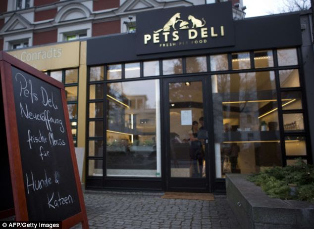 For the pampered pet: The Pets Deli in Gruenewald, Berlin, offers a menu for dogs and cats