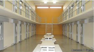 Prisão baseada em modelo arquitetônico americano (foto:  Asscom / Sejus)