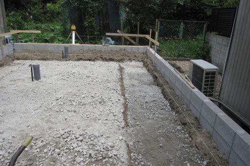 中川の家 掘り方