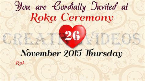 Roka Ceremony Invitation For Whatsapp (creativevideos