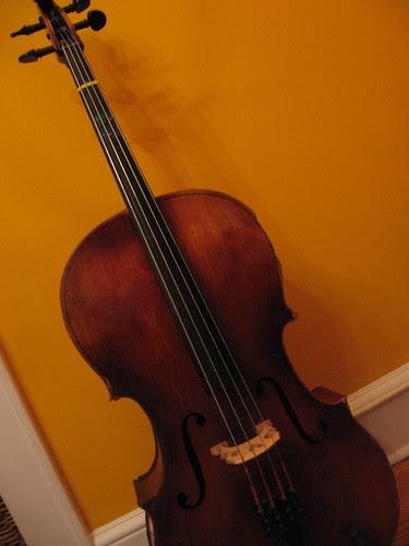 Cello on Orange