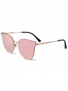 Street Fashion Golden-Rim Cat Eye Sunglasses