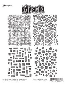 Dyan Reaveley GRAPHIC BACKGROUNDS Cling Stamp DYR38344