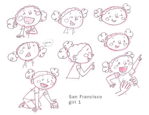 SF Girl sketches 1