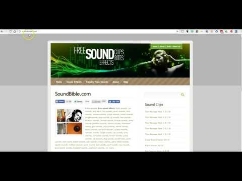 A Good Place to Find Free Sound Effects for Multimedia Projects