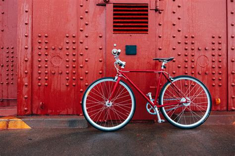 red mountain bicycle bicycle red wall hd wallpaper