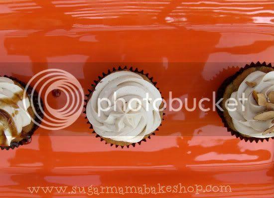 Sugar Mama banana caramel cupcakes