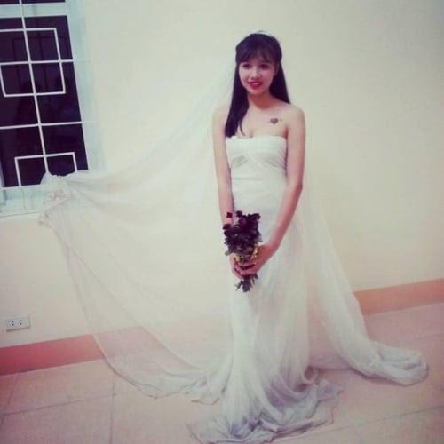 Hình ảnh Độc đáo váy cưới làm bằng màn tuyn số 3