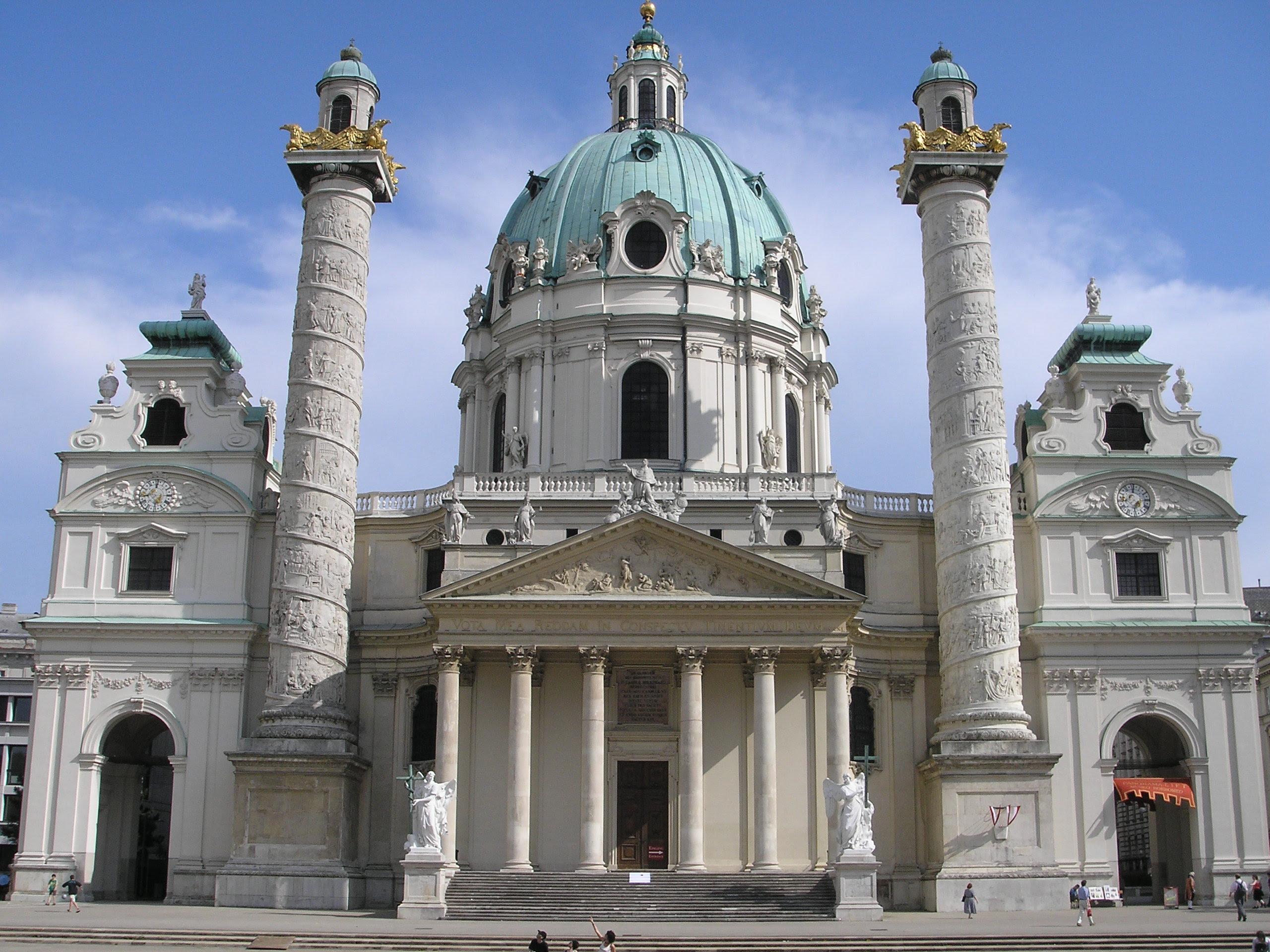 Igreja de São Carlos Borromeu (Karlskirche) em Viena