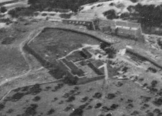 Restos del Monasterio de San Servando en 1915. Detalle de una fotografía aérea