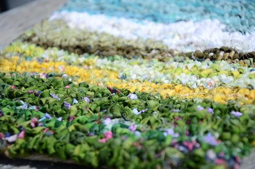 Detail: Prairie rug by Monika Kinner-Whalen