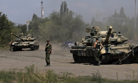 Russian soldiers near the border with Ukraine