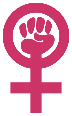 Woman-power symbol (clenched fist in Venus sig...