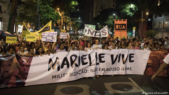 Marielle Franco protest in Rio de Janeiro (picture-alliance/AP/)