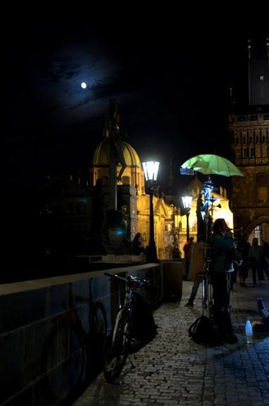 Performers on the Bridge - Prague