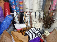 12 - Assorted Belts, Feathers, Sequins and Faux-Fur