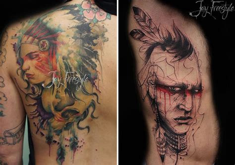 artist creates stunning freehand tattoos   spot