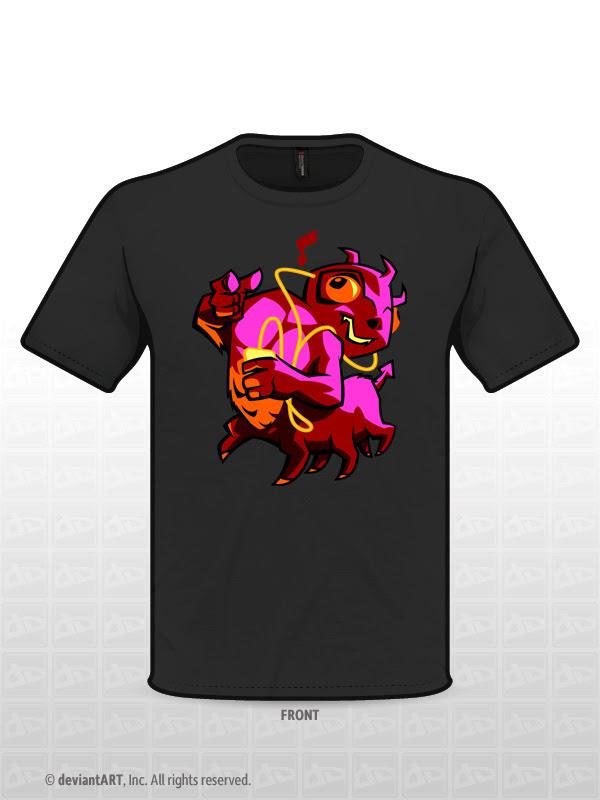 Music Monster t-shirt design