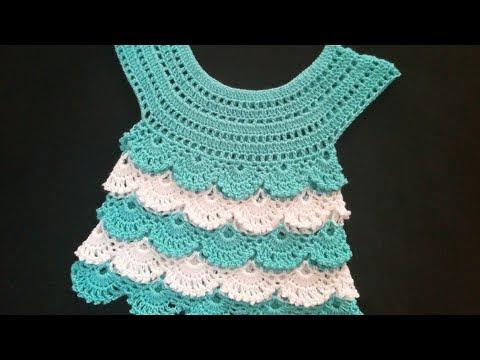 فيديو شرح طريقة عمل بلوزة صيفي بغرزة روعه اطفال بنات الخطوات بالعربى كروشية crochet blouse steps in arabic crochet كروشيه