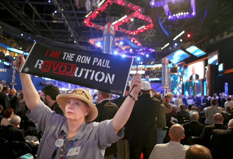 Ron Paul supporters mounted a futile effort to have the Texas congressman address the GOP convention. That was rejected by party officials on the first day of the convention.