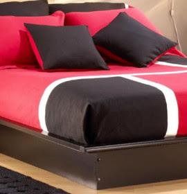 Decoração de quartos: preto, branco e vermelho