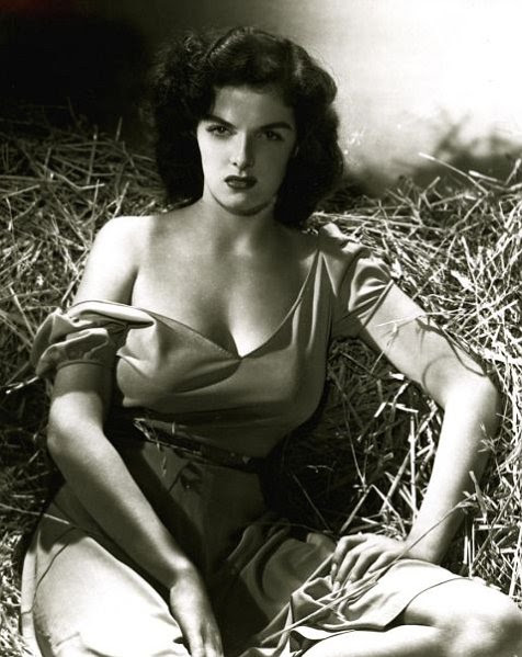 """Actress Jane Russell is shown in this publicity photograph for the 1943 film """"The Outlaw"""""""