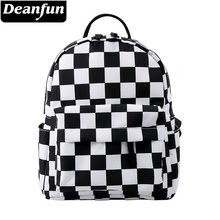 Deanfun  Classical Lattice Waterproof Backpack Women Bag