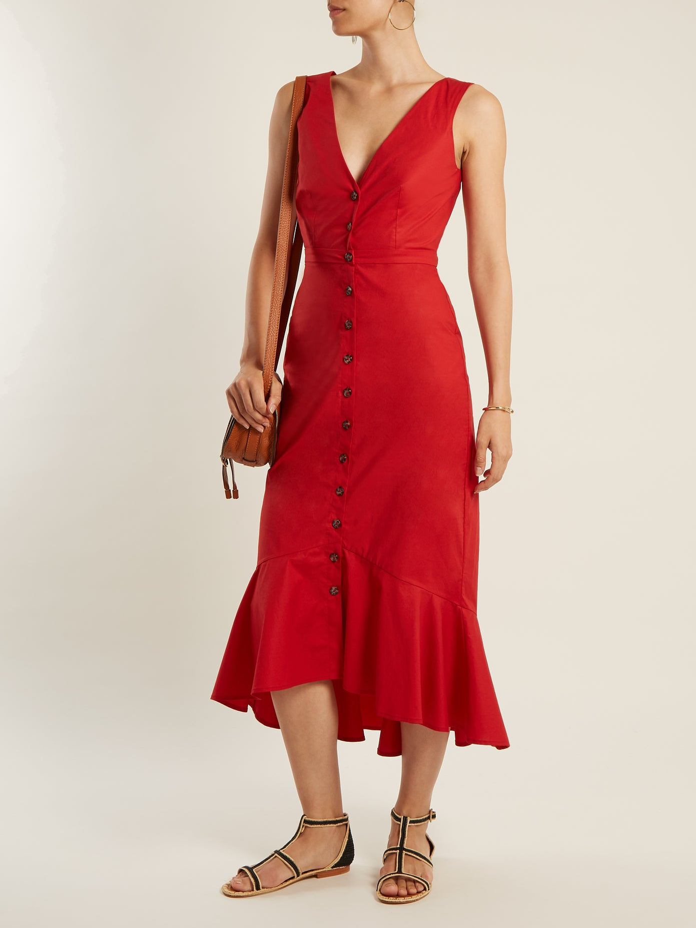 Le Fashion Blog Must Have Zoey Cutout Cotton Red Dress Via Net A Porter