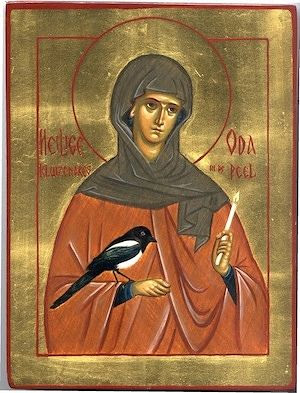 St. Oda of the Peel. Icon by the Convent of the Nativity of the Mother of God, Asten, the Netherlands.