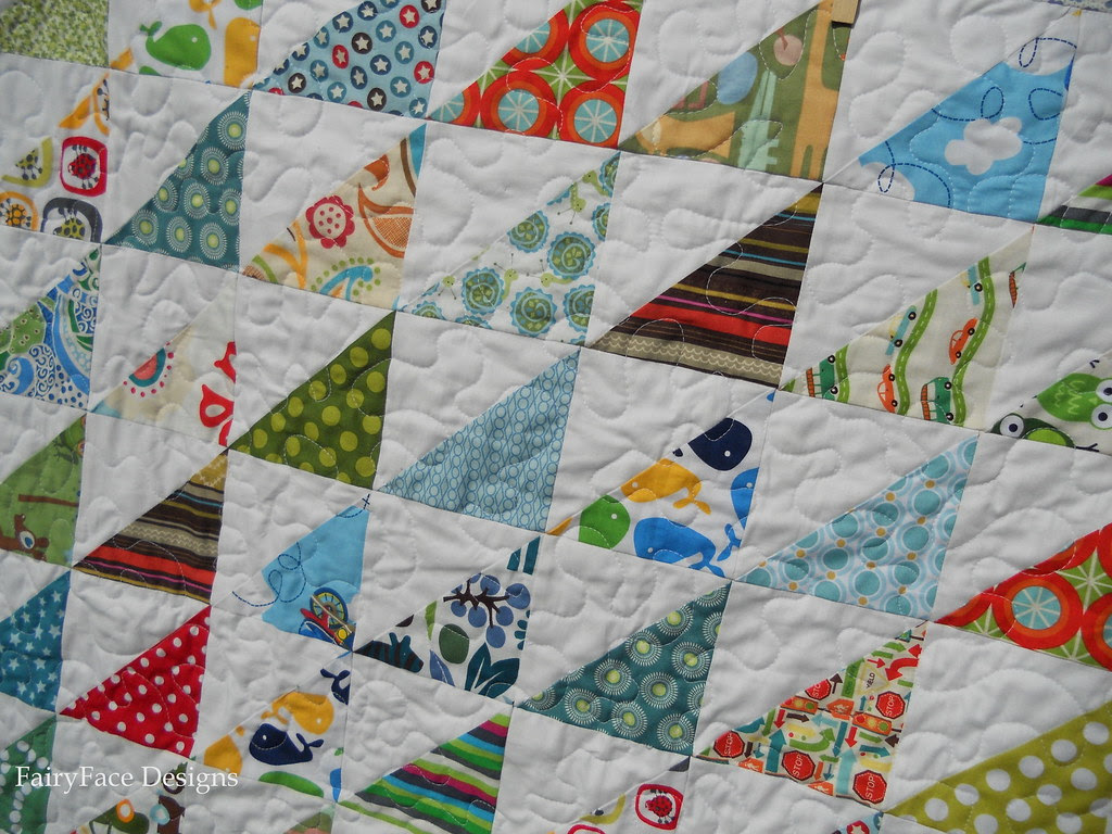 Frogs and Snails Quilting detail