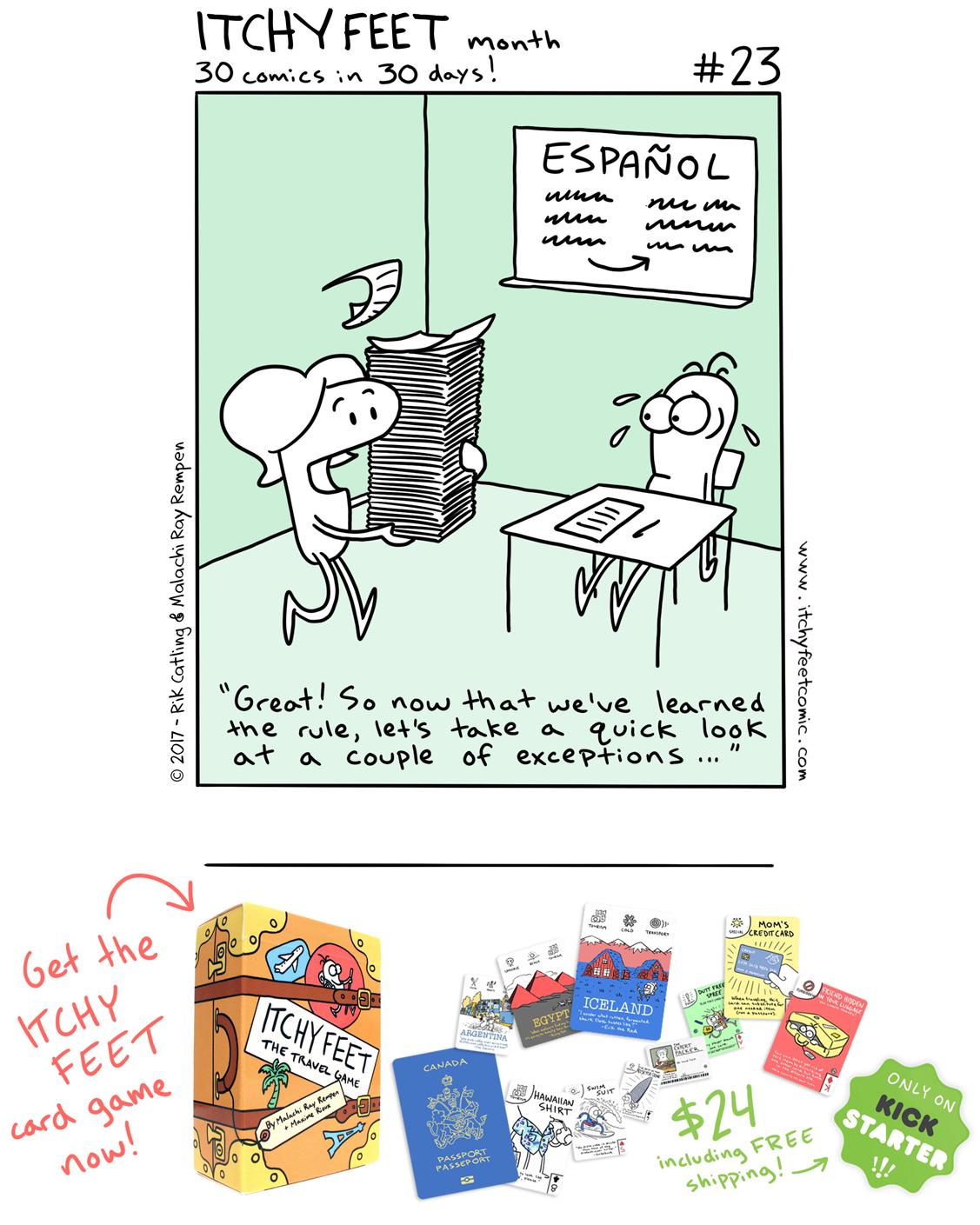 spanish language exceptions