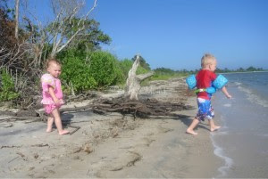 Kids at Assateague