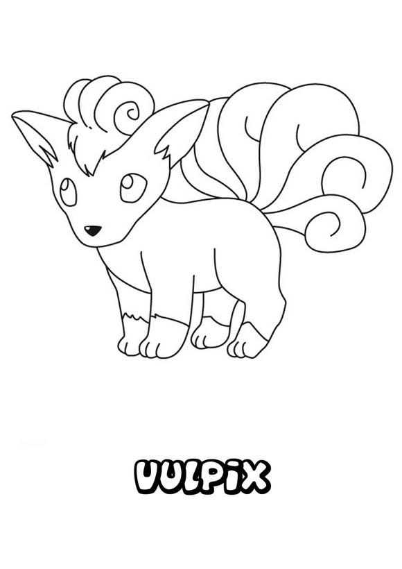 Dibujos Para Colorear Pokemon Vulpix Eshellokidscom