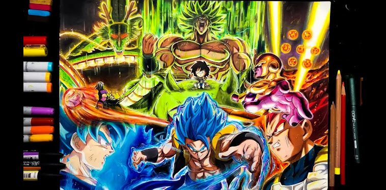 Dragon Ball Super Broly Poster Drawing