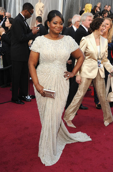 Octavia Spencer Sparkles in White at the Academy Awards