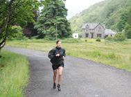 Ellie nearing the finish