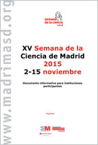 Documento informativo para instituciones participantes. XV Semana de la Ciencia 2015