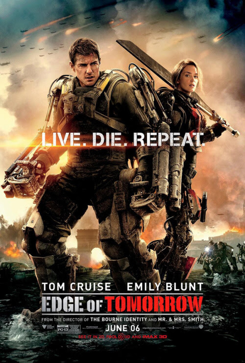 Edge Of Tomorrow poster - Click to see LARGER version and more.