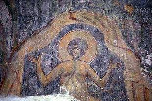 Μια τοιχογραφία στην εκκλησία του Αγίου Γεωργίου στον Καλαμά