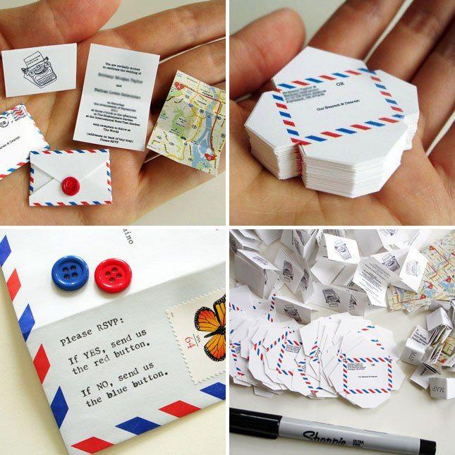 Undangan Mini - Bentuknya lucu imut berbentuk Amplop, didalamnya terdapat selembar informasi utama, peta lokasi pernikahan.