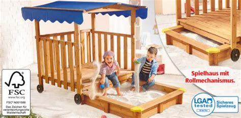 spielhaus mit sandkasten von aldi sued ansehen discountode