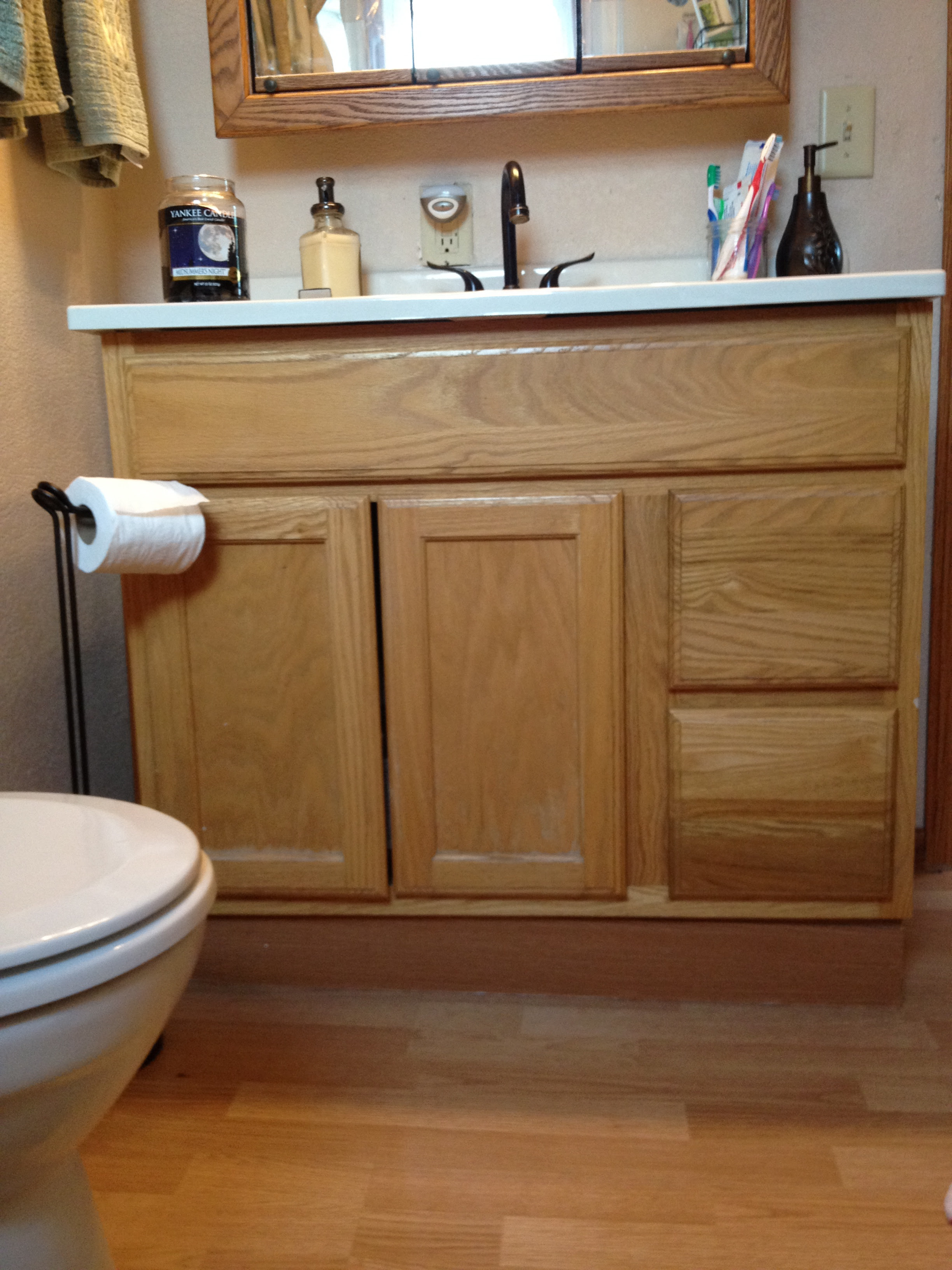 Cheap Bathroom Vanity Makeover