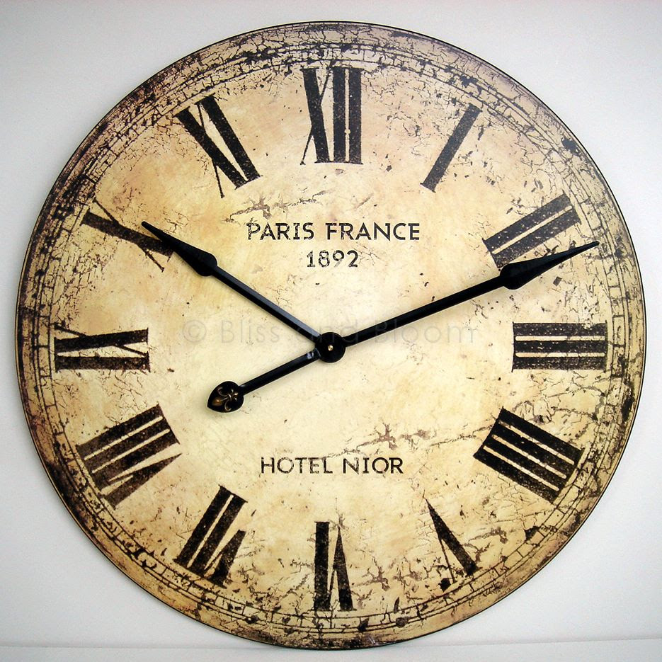 Very large wall clock 75cm :: Bliss and Bloom Ltd