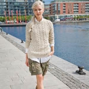 Connaught Cotton Aran Pullover ? The Counties of Ireland
