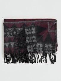 Topman Black And Purple Blanket Scarf