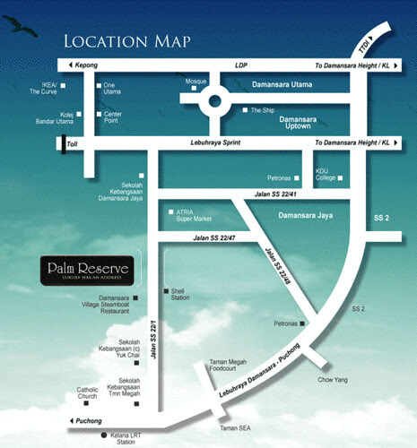 Palm Reserve Map