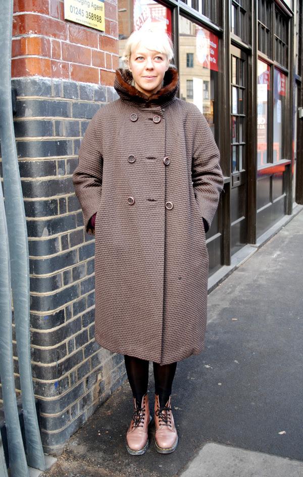 Doc Martens and Vintage Coat