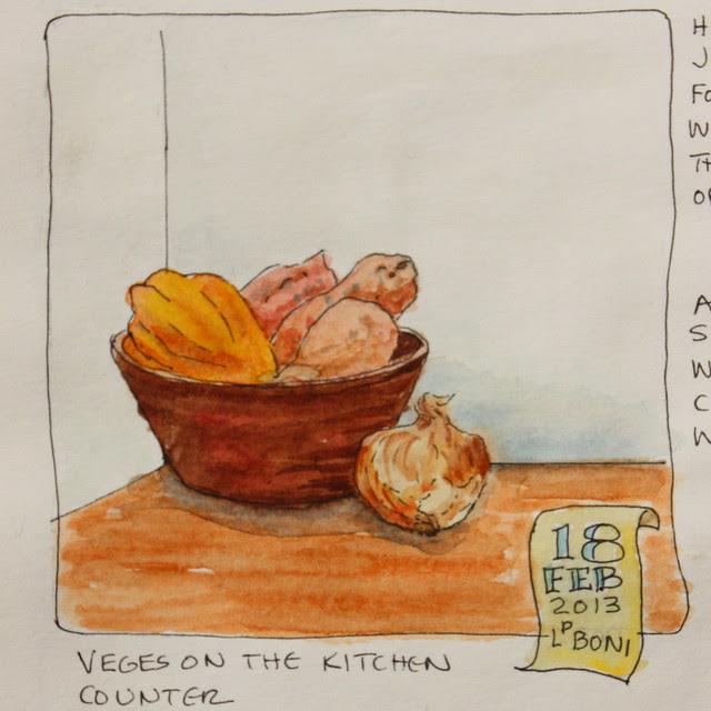 Bowl of Veges - WC sketch